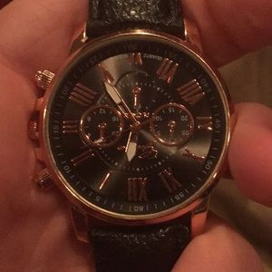 Men's copper and black watch